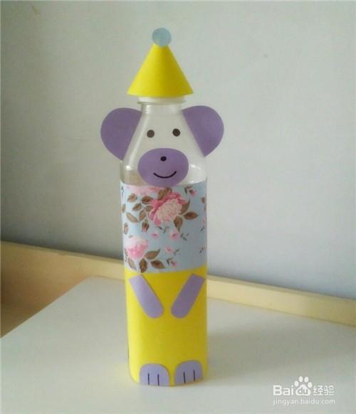 手工制作----矿泉水瓶如何改造成卡通小熊?