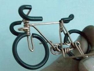 铜丝手工制作自行车