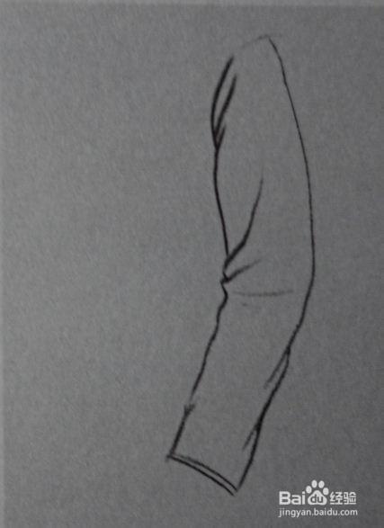 速写侧面手臂垂下的画法图片