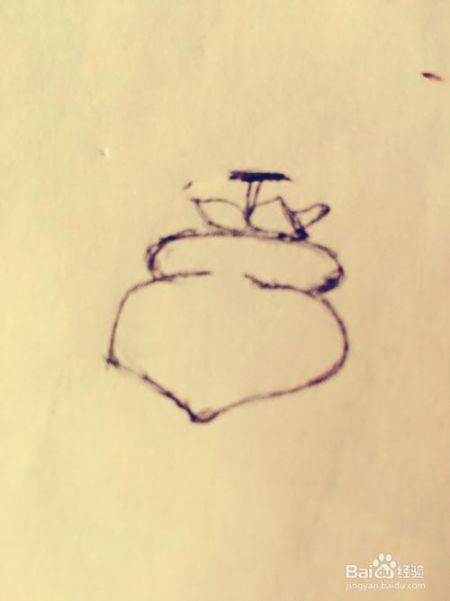 绘画系列之教你如何画简易柿子图片