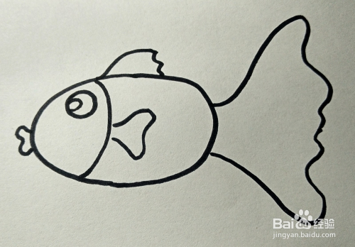 儿童简笔画 可爱小金鱼的画法