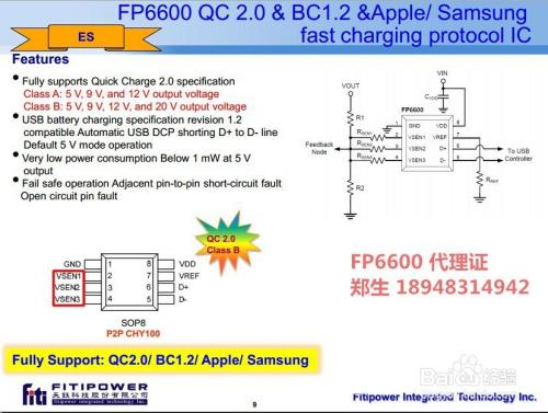高通qc2.0快速充电ic