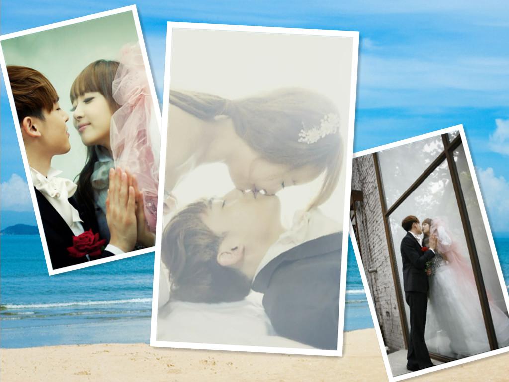 壁纸,保护视力桌面壁纸_生活安 【1024x768】维尼夫妇结婚-悠闲