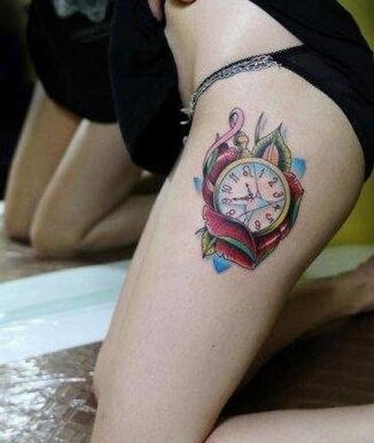 摄影直击:女孩各部位的各种纹身,你可能从未见过 你纹过哪里呢图片