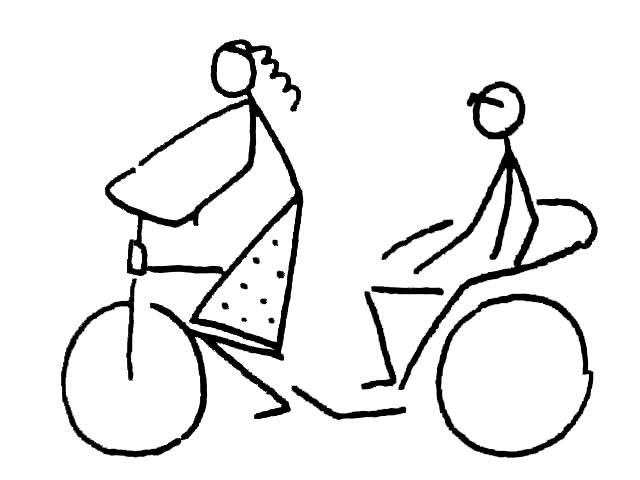 买东西 骑自行车等人物简笔画7-,,