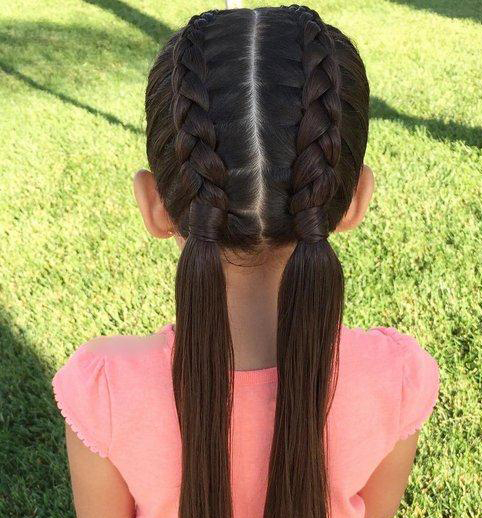 适合五一出游的小女孩发型!15款夏季编发,简单易学回头率高!图片