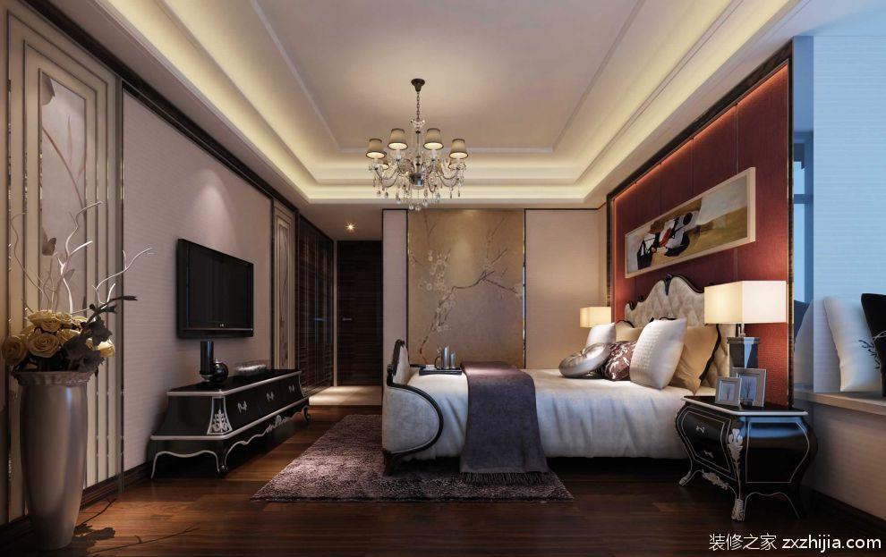 简洁明亮美式卧室效果图_装修之家装修效果图图片