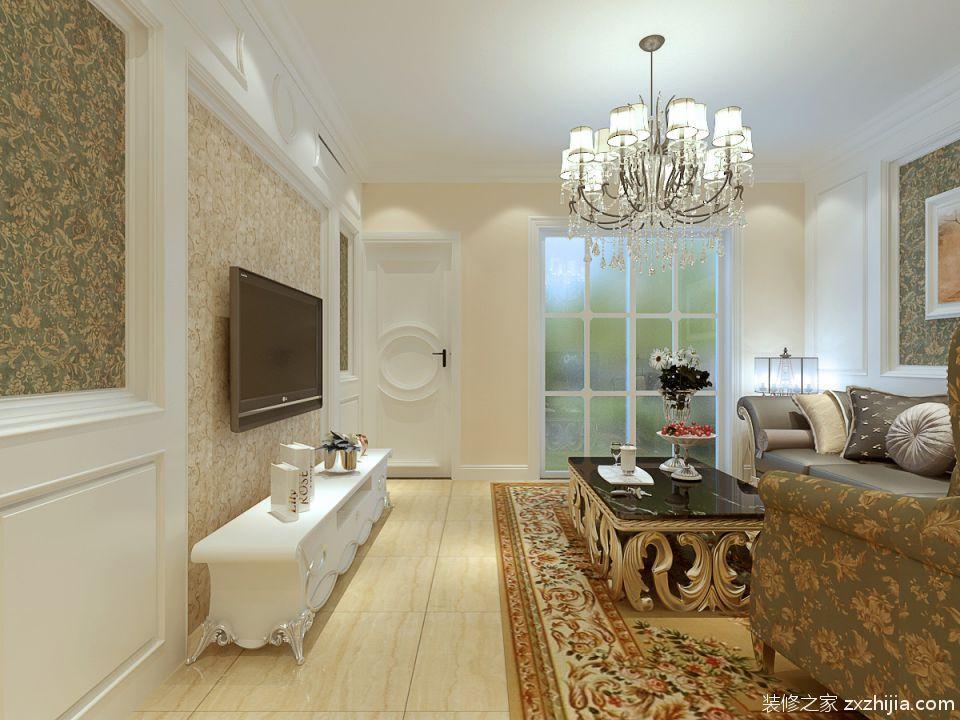 欧式风格客厅吊顶效果图_装修之家装修效果图图片