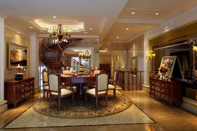 162平欧式风格别墅卧室装修效果图_设计案例_太平洋家居网高清图库图片