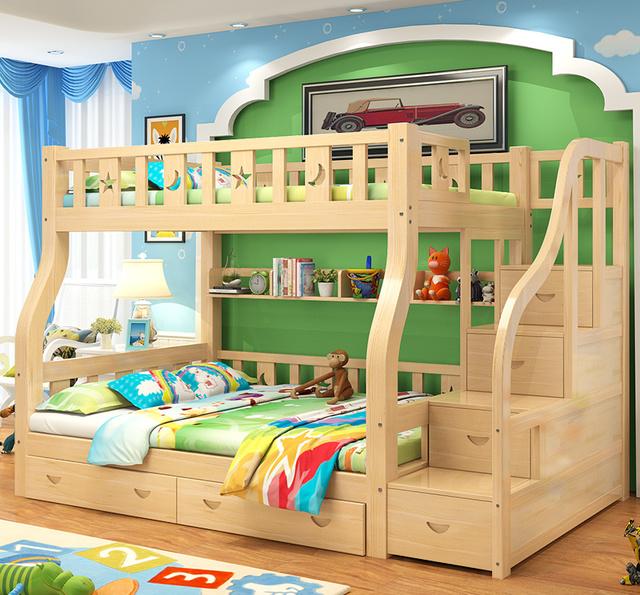 别再睡老式的木板床了,二胎时代正流行这款子母床,舒适又美观图片