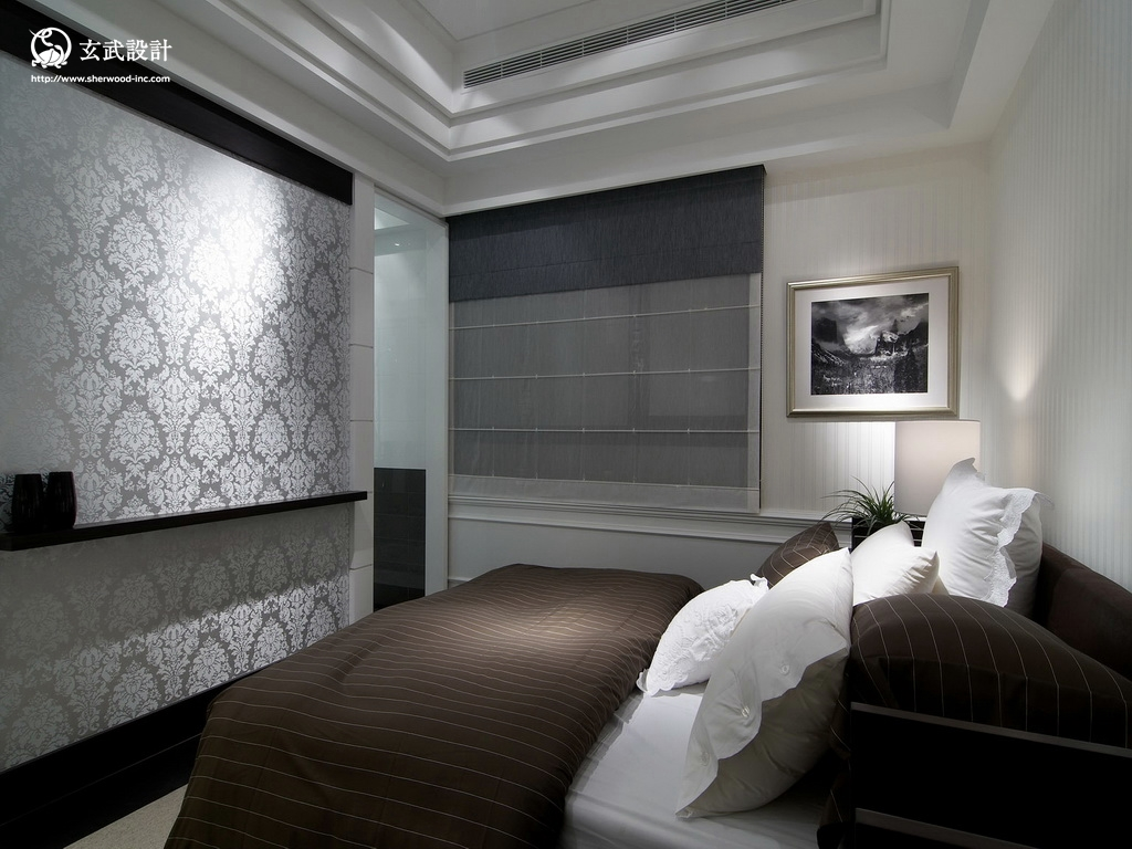 2013欧式风格别墅潮流室内墙纸副卧室吊顶装修效果图 高清图片