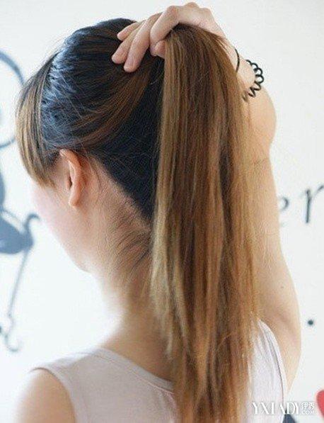 长发直发发型扎法美发达人示范直发丸子头的扎发发型图解图片