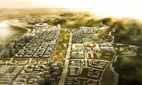深圳奥体新城规划效果图图片