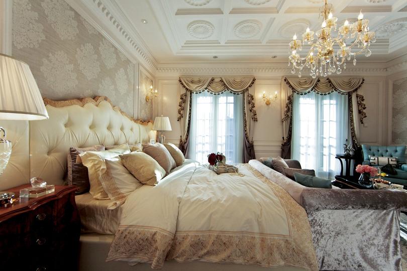 三室二厅150平方米大户型美式风格家居卫生间浴缸浴室柜灯具装修效果图片