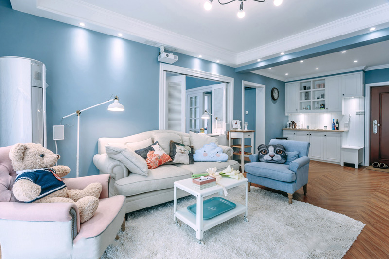 87平米混搭北欧风格三居室装修 美宅美生图片