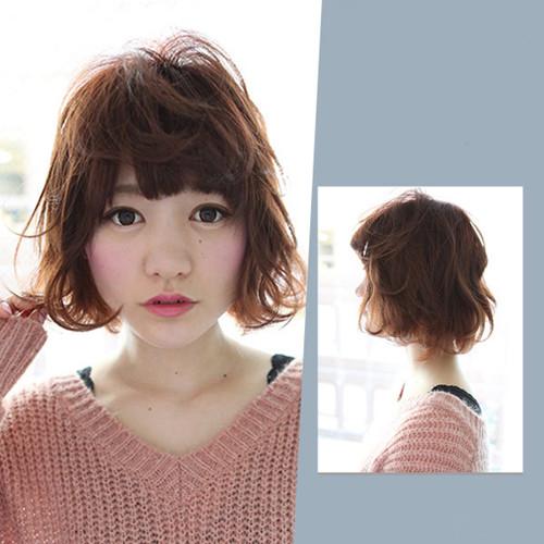中短发发型女生烫发分享展示