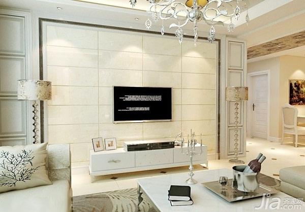 简欧电视背景墙 炫目客厅优雅延续图片