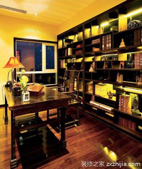 中式文化书房装修效果图_装修之家装修效果图图片