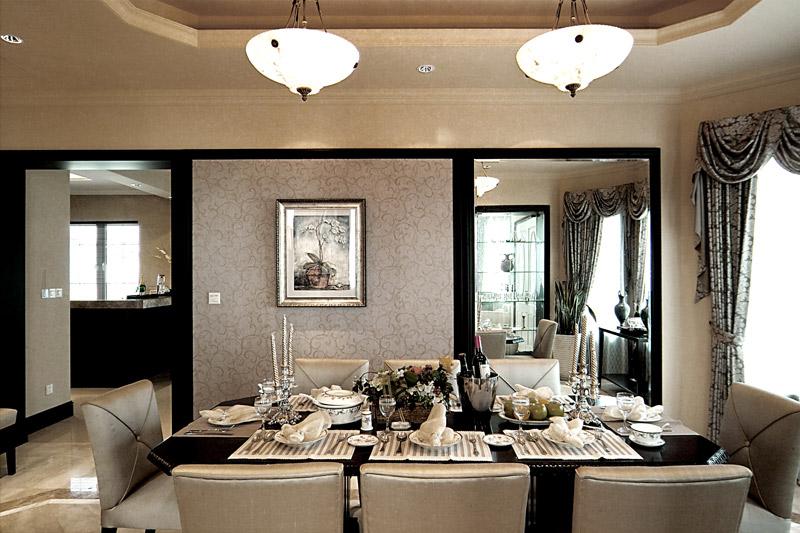 经典优雅欧式三居140平家居客厅沙发茶几地毯装修效果图图片