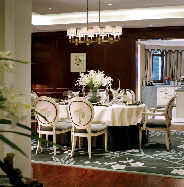美式风格别墅餐厅设计_装修之家装修效果图图片