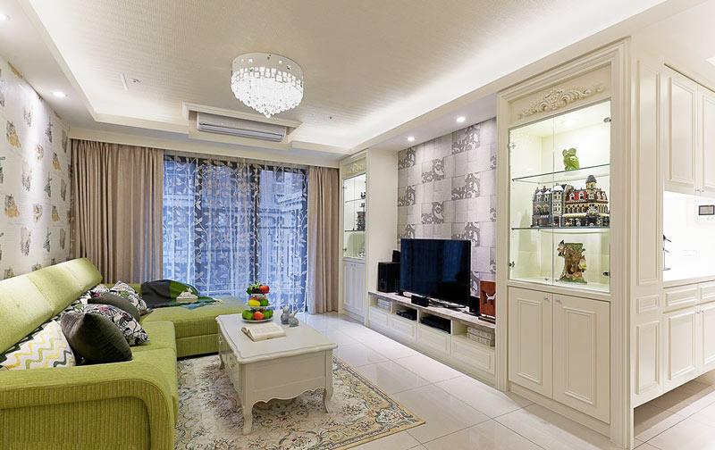 103平米装修效果图 轻美式生活住宅图片