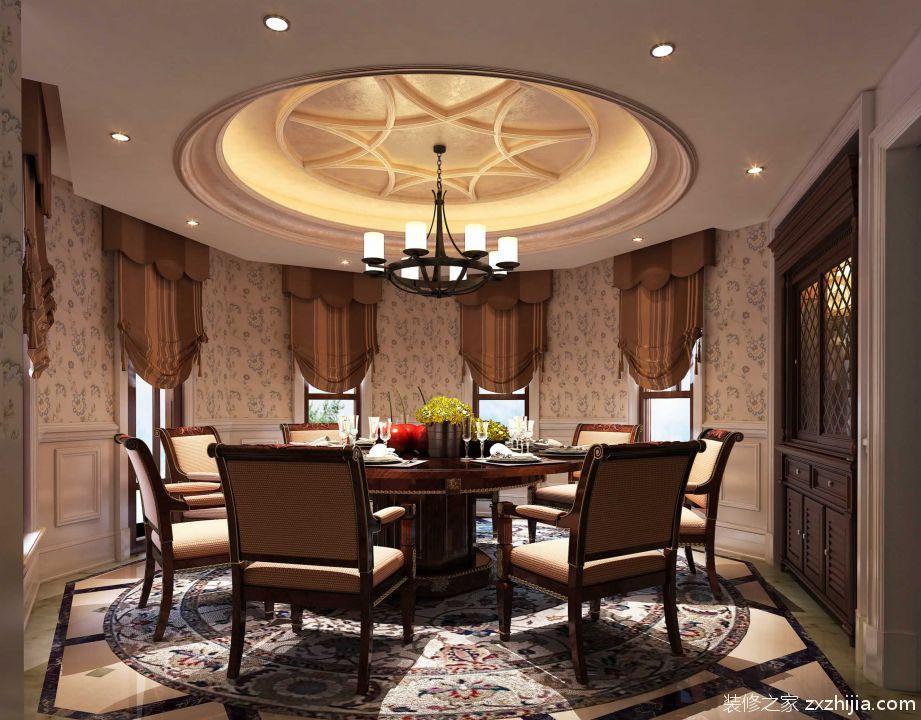 美式乡村风格开放式餐厅装饰设计_装修之家装修效果图