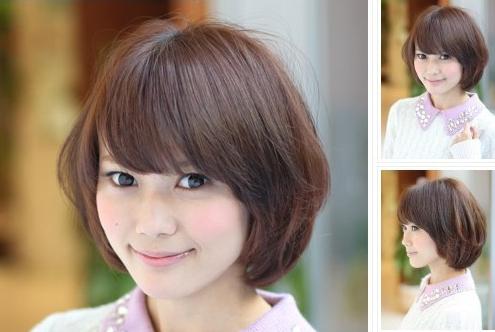 内扣式梨花短发发型 初秋清爽修颜变少女图片