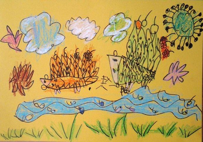 哺乳动物 猬 刺猬 创意画_哺乳动物 猬 刺猬 创意画图片