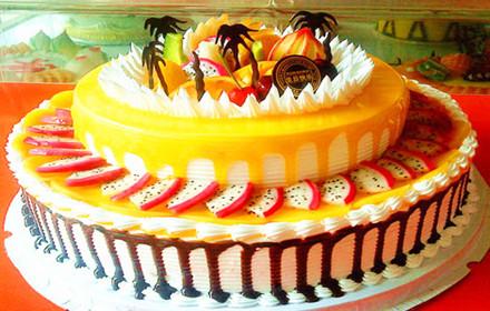 价值388元【美斯乐(mesla)双层欧式水果鲜奶蛋糕】高端大气,健康美味图片