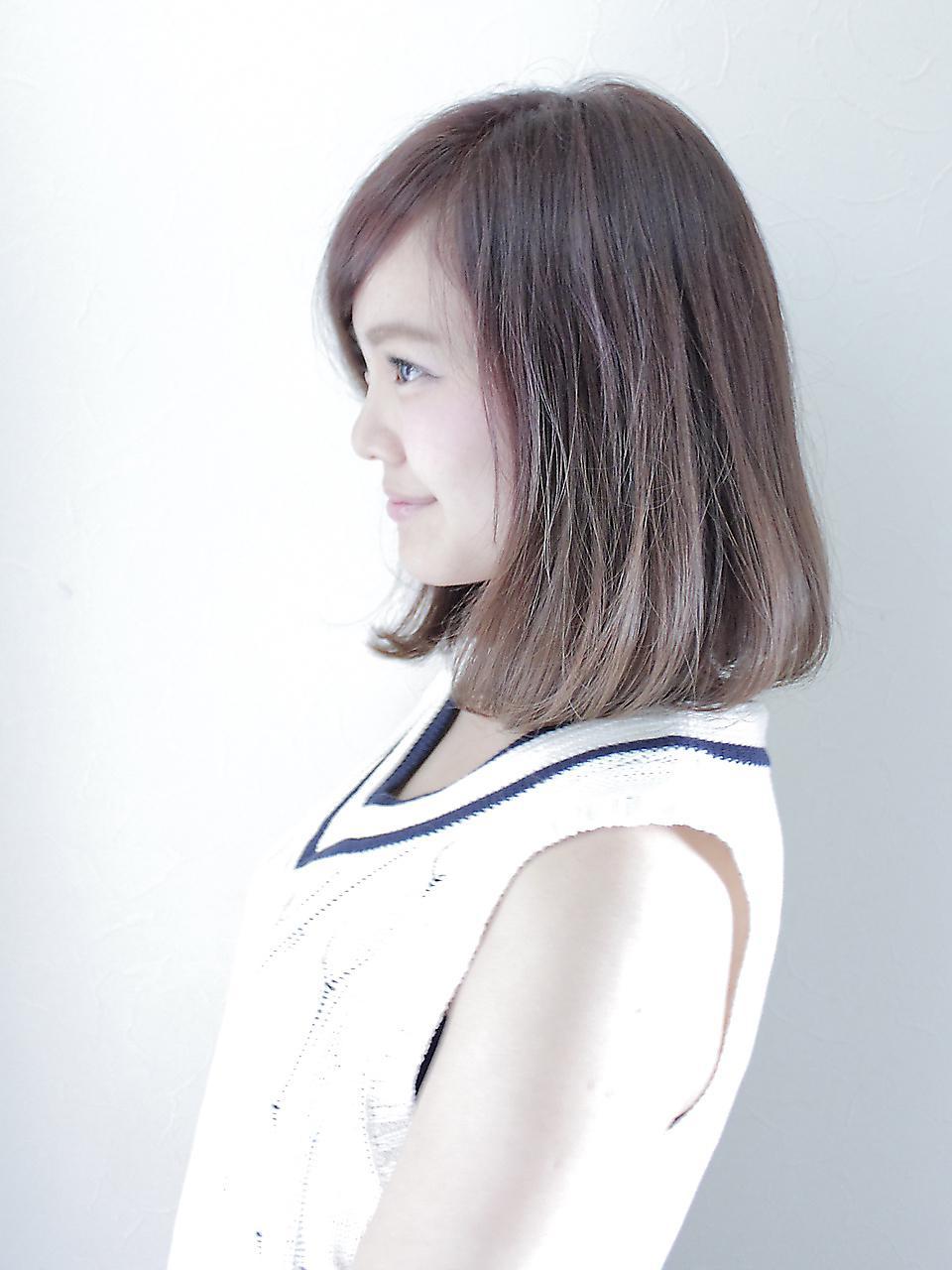 针对粗硬发质杏仁脸的女生这款发型让你图片