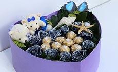 绿韵花艺花盒玫瑰套餐