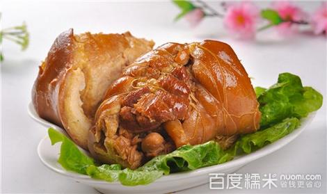 美味德式烤猪肘开吃东北大肘子大腰子是什么就是猪的肘子腰子吧 rt:我图片