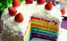 7点自造8寸彩虹蛋糕