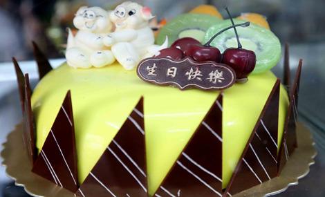 快乐风生日蛋糕