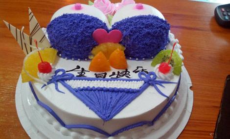 欧式双层水果蛋糕!