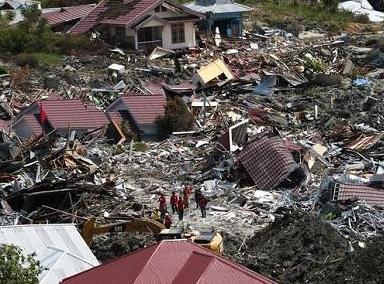 监拍印尼7.5级地震现场