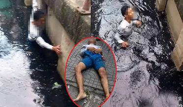 落水者死前求救 路人只顾找角度拍照