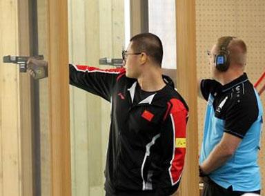 中国射击队获军运会中国代表团首金