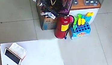 """男子闯入商店抢走""""佩奇"""""""