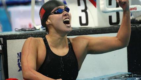 傅园慧100仰破记录夺冠 58秒72排名世界第三