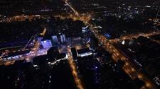 超美夜景:警用直升机巡逻航拍北京