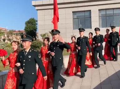 火箭军116对新人集体婚礼