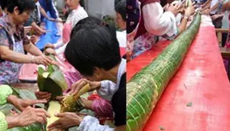 开眼!如何做20米长粽