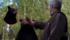 实拍外国老人遭攻击狠扇黑熊耳光 惊呆旁人