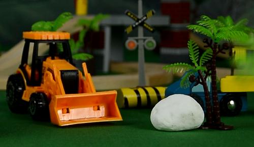 工程队的大麻烦,儿童大型挖掘机玩具,阿紫玩具