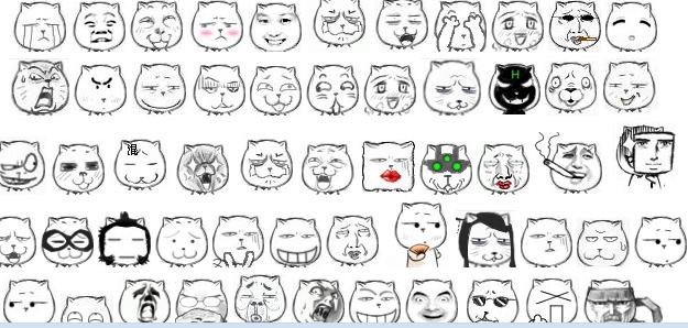 搞笑猥琐猫qq表情图片