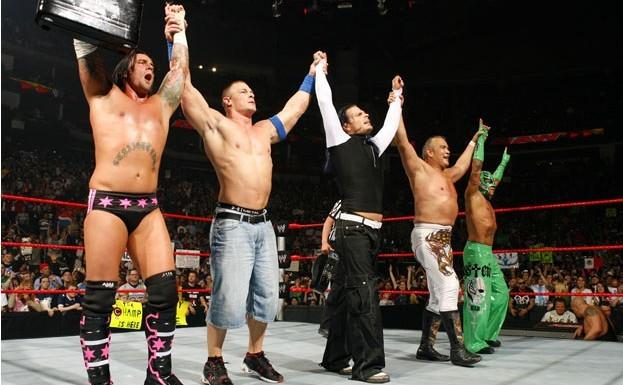 punk走了后决出的wwe冠军雷尔又被剧情跟塞纳打了一场wwe高清图片