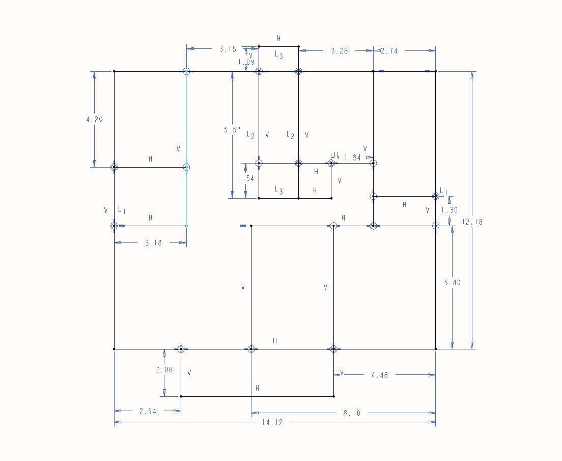 0 画二位房屋图纸 墙后怎么画?图片