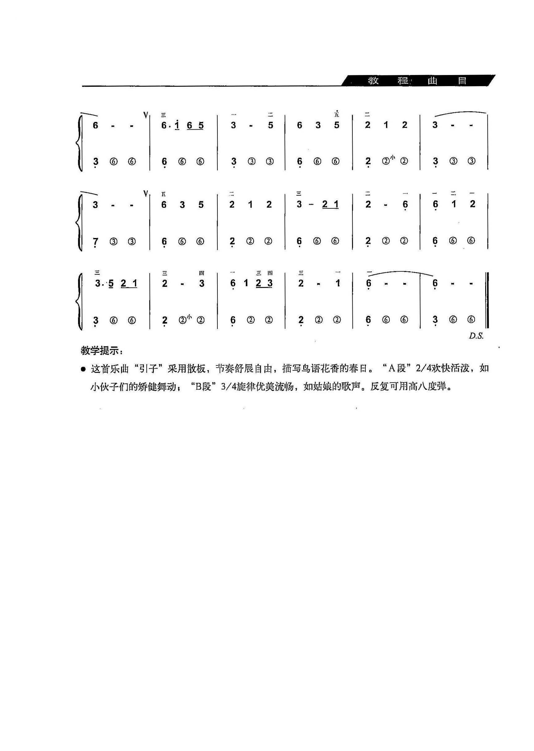 手风琴曲 花儿与少年 简谱 教程 详细的图片