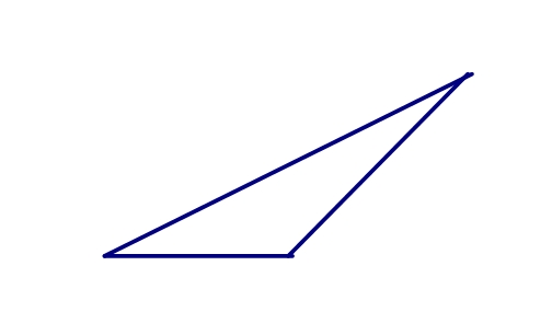 除了直角三角形外还有斜三角形,包括锐角三角形和钝角三角形.图片